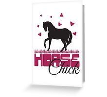 Horse Chick Greeting Card