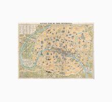 Vintage Map of Paris France (1890) Unisex T-Shirt