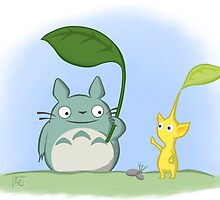 Totoro Pikmin Crossover by Cute-Nerds
