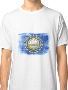 New Hampshire State Flag Distressed Vintage Classic T-Shirt