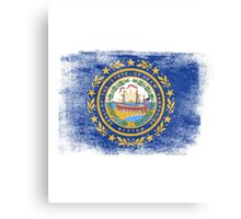 New Hampshire State Flag Distressed Vintage Canvas Print