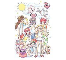 FE Hoshido x Pokemon Photographic Print