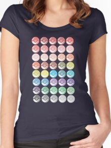 colorful pokebals everywhere! Women's Fitted Scoop T-Shirt