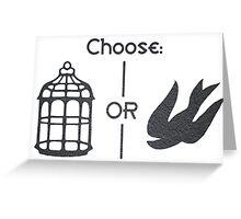 Bioshock Infinite - Bird or Cage Greeting Card
