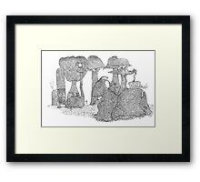 Over the seas and faraway Framed Print