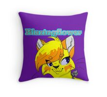 Blazingflower Headshot Throw Pillow