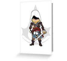 Assassin's Creed 4: Black Flag Edward Kenway Chibi Greeting Card