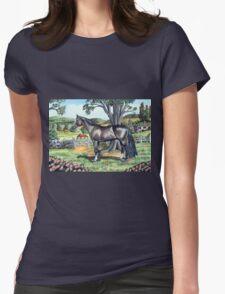 Dark Bay Thoroughbred...(on craft foam) Womens Fitted T-Shirt