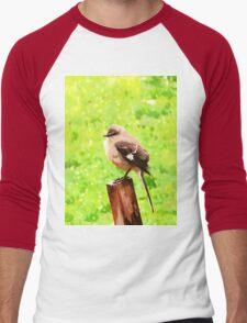 The Bird Painting  Men's Baseball ¾ T-Shirt