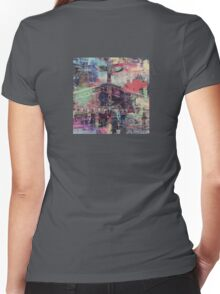 Totem Log Cabin Abstract - Multi Women's Fitted V-Neck T-Shirt