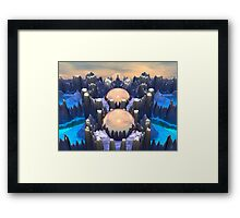 Reflection of Three Spheres Framed Print