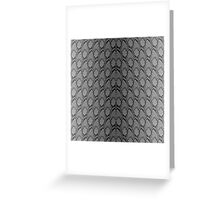 Black and Grey Faded Python Snake Skin Reptile Skin Greeting Card