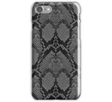 Black and Grey Faded Python Snake Skin Reptile Skin iPhone Case/Skin