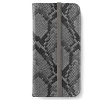 Black and Grey Faded Python Snake Skin Reptile Skin iPhone Wallet/Case/Skin