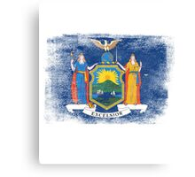 New York State Flag Distressed Vintage Canvas Print