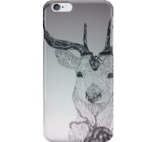 Bloody stag - monotone  iPhone Case/Skin