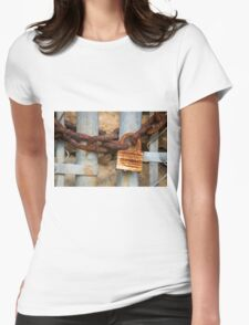 Lock and Chain Womens Fitted T-Shirt