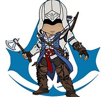 Connor Kenway Chibi: Assassin's Creed 3 by SushiKittehs