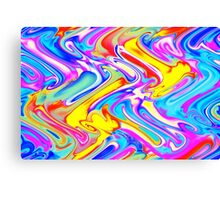 A Trendy Splash of Swirled Watercolor Canvas Print
