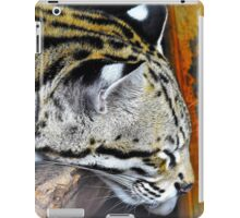 Sleepy ocelot iPad Case/Skin