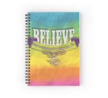 """Multi color,painting,rainbow,typography,""""Believe in the impossible"""" Spiral Notebook"""