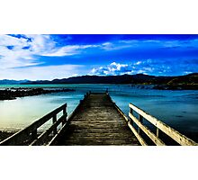 Waihau bay wharf New Zealand Photographic Print