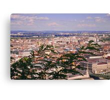 Budapest view with Liberty Bridge Canvas Print
