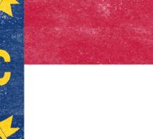 North Carolina State Flag Distressed Vintage  Sticker