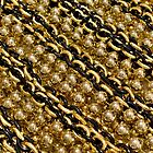 Black and Gold Chain Beads by StudioBlack