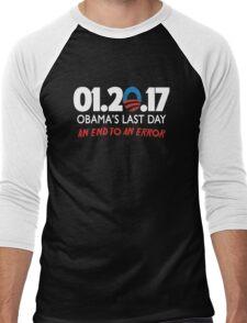 Obama's Last Day in Office Men's Baseball ¾ T-Shirt