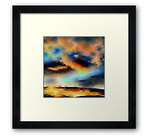 Nature,water color,painting,classy,beautiful,dark colors,contemporary Framed Print