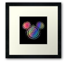 colorful abstract mickey's head design Framed Print