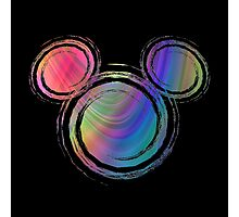colorful  mickey Photographic Print