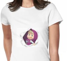 Masha and the bear 2 Womens Fitted T-Shirt