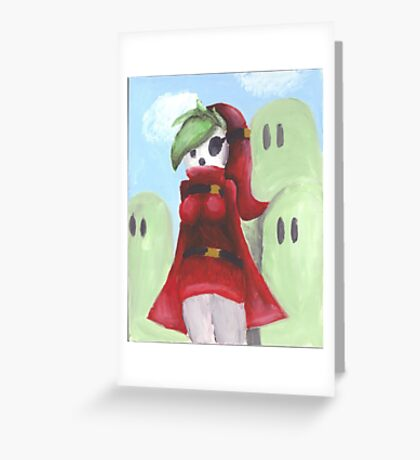Shy Gal Mario Bros Greeting Card