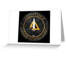Delta Force Vintage Insignia Greeting Card