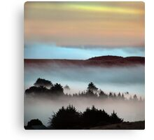 Bodega Bay in Pastels, Sonoma County, California Canvas Print