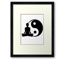 Ying and Yang Meditator Framed Print