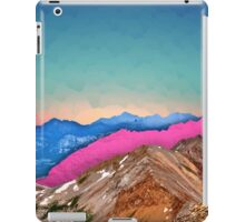Color Band Mountains iPad Case/Skin
