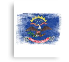 North Dakota State Flag Distressed Vintage Canvas Print