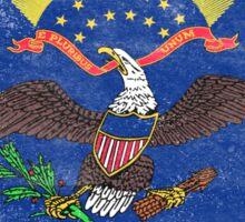 North Dakota State Flag Distressed Vintage Sticker