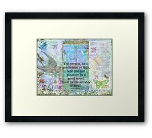 Jane Austen witty book quote  Framed Print