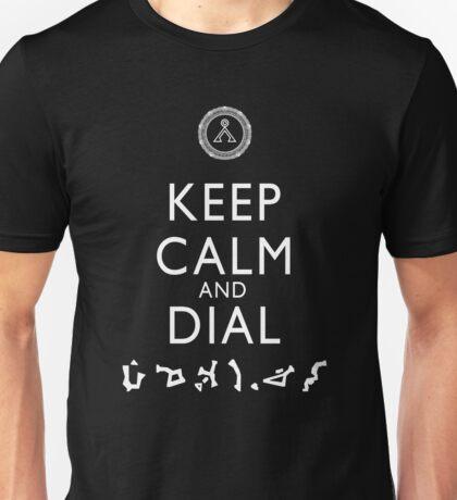 Keep Calm and Dial Earth (white) Unisex T-Shirt