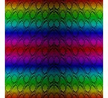 Bright Metallic Rainbow Python Snake Skin Horizontal Reptile Scales Photographic Print
