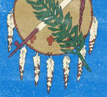 Oklahoma State Flag Distressed Vintage Sticker