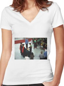 college graduation Women's Fitted V-Neck T-Shirt