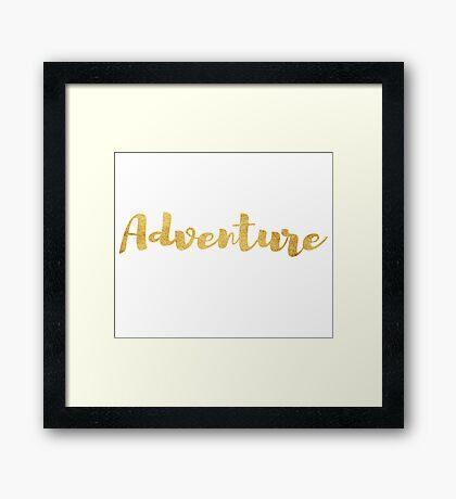 Adventure in Gold Framed Print