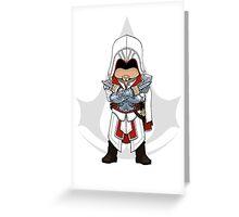 Assassin's Creed Brotherhood Chibi Ezio Auditore Greeting Card