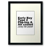 Early Bay Pop Type 2 Pop Top Black Framed Print