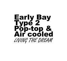 Early Bay Pop Type 2 Pop Top Black LTD Photographic Print